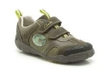 Clarks 'StompoJaw Inf' Boys Shoes (Khaki)