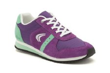 Clarks 'Super Leap' Girls Trainers (Purple Combi)