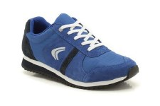 Clarks 'Super Run' Boys Sport Shoes (Blue Combi)