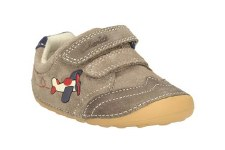 Clarks 'Tiny Liam' Boys First Shoes (Grey)