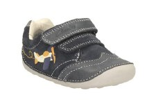 Clarks 'Tiny Liam' Boys First Shoes (Navy)