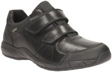 Clarks 'TraxFun GTX' Boys School Shoes (Black)