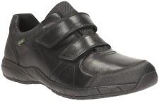 Clarks 'TraxFun GTX' Boys School Shoes (Black)