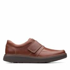 Clarks 'Un Abode Strap' Mens Shoes (Dark Tan)