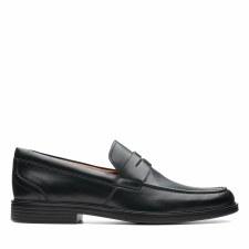 Clarks 'Un Aldric Step' Mens Shoes (Black)
