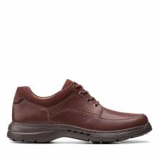 Clarks 'Un Brawley Lace' Mens Shoes (Mahogany)