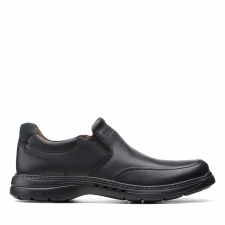 Clarks 'Un Brawley Step' Mens Shoes (Black)