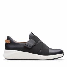 Clarks 'Un Rio Strap' Ladies Shoes (Black)