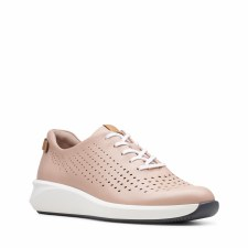 Clarks 'Un Rio Tie' Ladies Trainers (Blush)