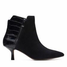 Clarks 'Violet55 Zip' Ladies Ankle Boots (Black Croc)