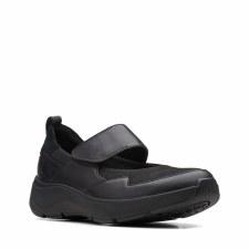 Clarks 'Wave2.0 Glide' Ladies Shoes (Black Combi)