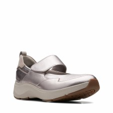 Clarks 'Wave2.0 Glide' Ladies Shoes (Pewter)
