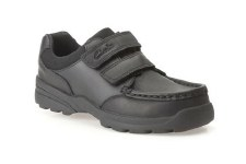 Clarks 'Zayden Go Inf' Boys School Shoes (Black)