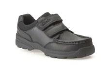 Clarks 'Zayden Go Inf' Boys School Shoes (Black)