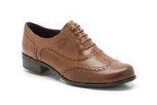 Clarks 'Hamble Oak' Leather Brogues (Dark Tan)