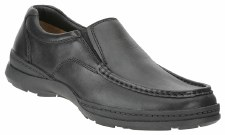Clarks 'Line Move' Leather Shoe (Black)