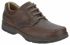 Clarks 'Star Stride Mens Leather Shoe (Brown)