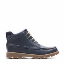 Clarks 'Comet Moon Jnr' Boys Boots (Navy)