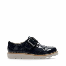 Clarks 'Crown Pride' Girls Shoes (Navy Patent)