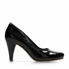Clarks 'Dalia Rose' Ladies Heels (Black Patent)