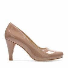 Clarks 'Dalia Rose' Ladies Heels (Nude Patent)