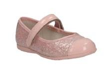 Clarks 'Dance Glam Pre' Girls Shoes (Peach)