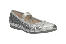 Clarks 'Dance Glam Pre' Girls Shoes (Silver)