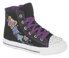 DEK 'C764' Girls Hi Top Boots (Black Multi)