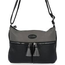 David Jones '6123' Crossbody Bag (Black)