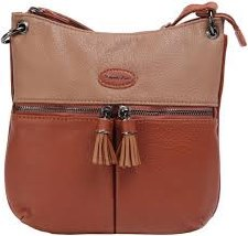 David Jones '6123' Crossbody Bag (Brown)