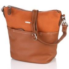 David Jones '6129' Crossbody Bag (Cognac)