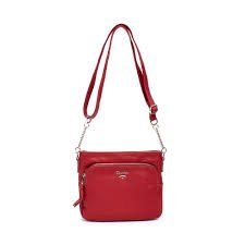 David Jones 'CM5346' Crossbody Bag (Red)