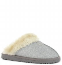 Ella Shoes 'Sparkle' Ladies Slippers (Silver)