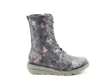 Heavenly Feet 'Martina' Ladies Ankle Boots (Black Floral)