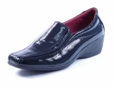 Heavenly Feet 'Sierra' Ladies Comfort Shoe (Black Patent)
