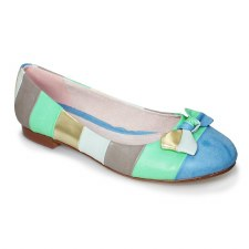 Lunar 'Nadia' Ladies Flats (Blue Multi)