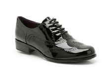 Clarks 'Hamble Oak' Leather Brogues (Black Patent)