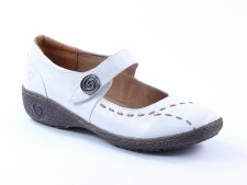 Heavenly Feet 'Scarlet' Ladies Shoes (White)