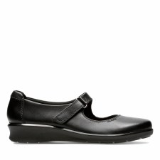 Clarks 'Hope Henley' Wide Fitting Ladies Shoes (Black)