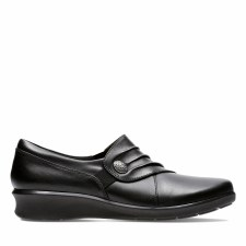 Clarks 'Hope Roxanne' Ladies Wide Fitting Shoes (Black)