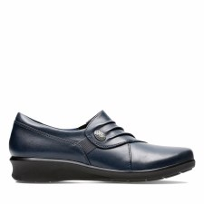 Clarks 'Hope Roxanne' Ladies Wide Fitting Shoes (Navy)