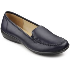 Hotter 'Jazz' Ladies Slip-On Shoes (Petrol)