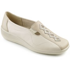 Hotter 'Calypso' Ladies Sandal (Beige)