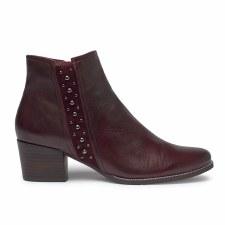 Regarde Le Ciel 'Isobel' Ladies Ankle Boots (Bordo)