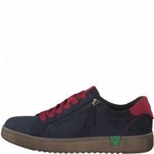Jana '23780' Ladies Sneakers (Navy/Red)
