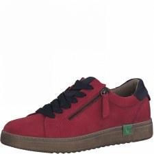 Jana '23780' Ladies Sneakers (Red/Navy)