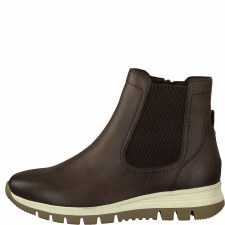 Jana '25468' Ladies Wide Fitting Ankle Boots (Cafe)