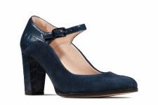 Clarks 'Kaylin Alba' Ladies Heels (Navy Combi)