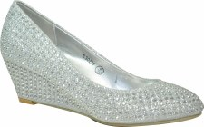 Krasceva 'S30237' Ladies Wedges (Silver)