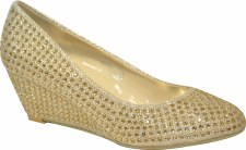 Krasceva 'S30237' Ladies Wedges (Gold)